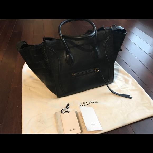 Celine Handbags - Celine black leather phantom luggage 0e9ef47c3be58